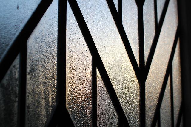 Tuesday: dawn through condensation
