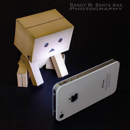 Danbo and iPhone.