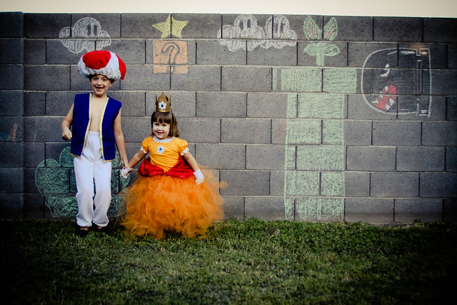 Halloween 2013 Toad and Princess Daisy of Super Mario Fame