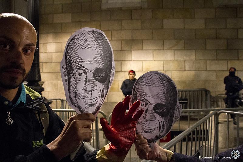 Justícia Juan Andrés a plaça Sant Jaume el #14N Foto: Fotomovimiento