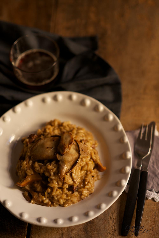 risotto de ceps i rosinyols