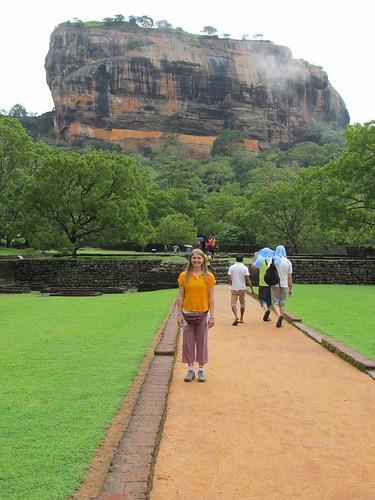 Before the accent up Sigiriya
