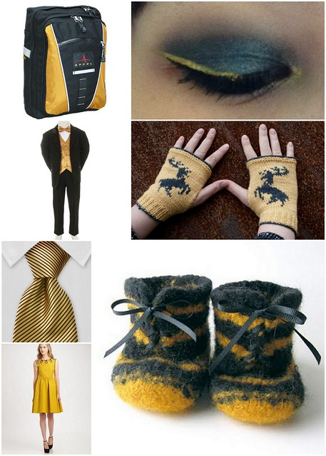 Gold Black Wearables Collage