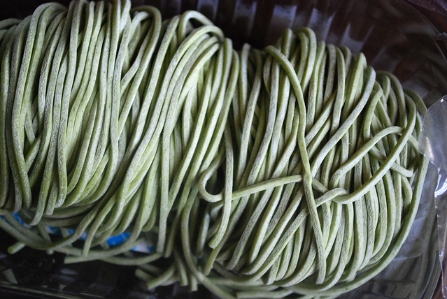 Raw Spinach Pasta