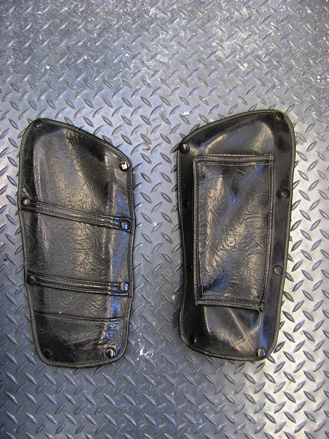 Leather Storage Pocket Covers-Good Condition, No Rot