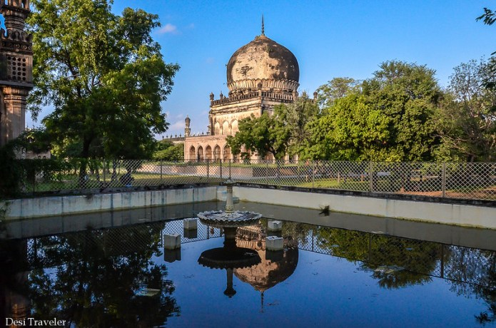7 Qutub Shahi Tombs reflection in water