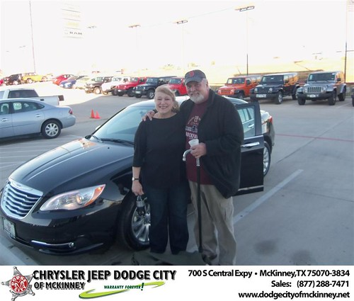 Happy Anniversary to Sheila Lovelace on your 2013 #Chrysler #200Ch from Bobby Crosby  and everyone at Dodge City of McKinney! #Anniversary by Dodge City McKinney Texas