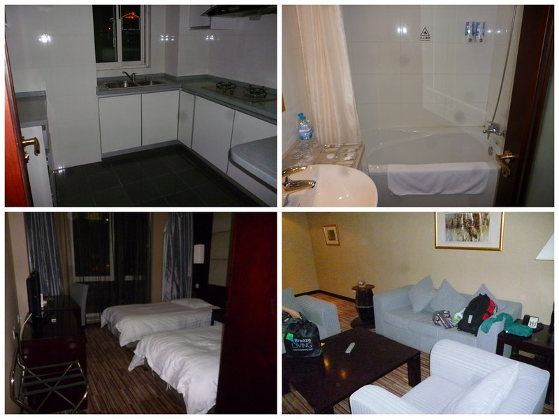 Upgraded hotel suite