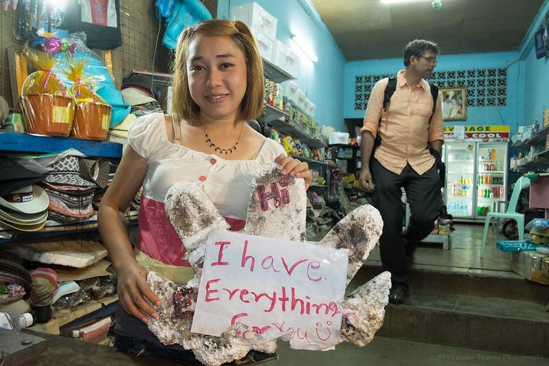 sandwich seller girl, Huay Xai, border town in Laos