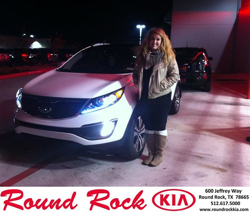 Thank you to Alexis Kruse on your new 2013 #Kia #Sportage from Amir Mahboubi and everyone at Round Rock Kia! #RollingInStyle by RoundRockKia
