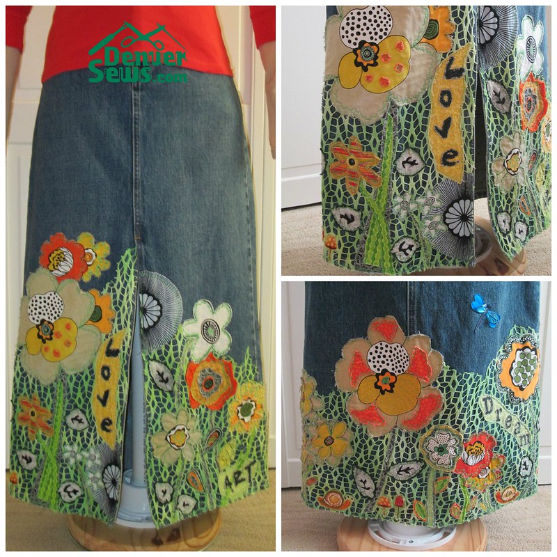 PicMonkey Collage denim art skirt