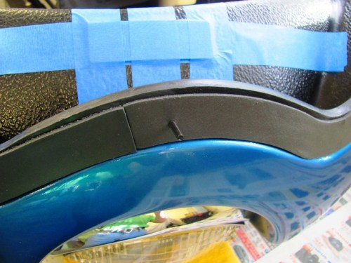 Use Bolt to Poke Holes in Foam Tape Gasket
