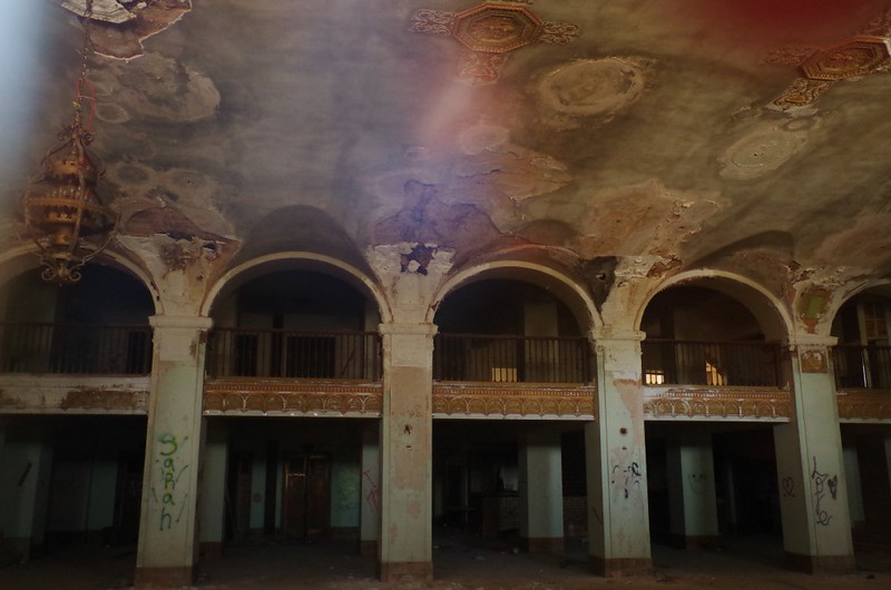Abandoned Baker Hotel lobby