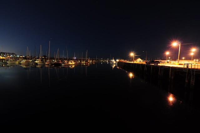 Sun setting over the south docks