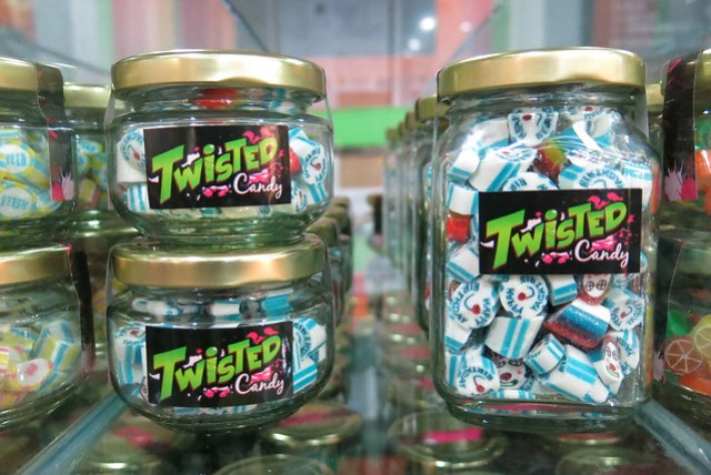 Jars of candy at Twisted Candy