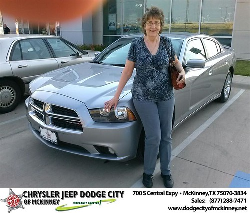 Thank you to Letha Crooks on your new 2013 Dodge Charger from David Walls and everyone at Dodge City of McKinney! by Dodge City McKinney Texas