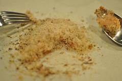 detail: Skågen shrimp, hot smoked foie gras