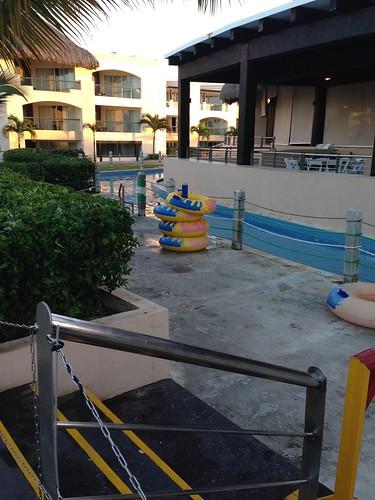 Entrance to Lazy River at Hard Rock Hotel - Punta Cana