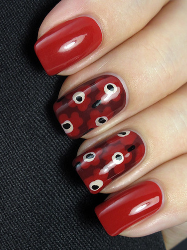 Bullish On OPI - Marimekko inspired nails :)