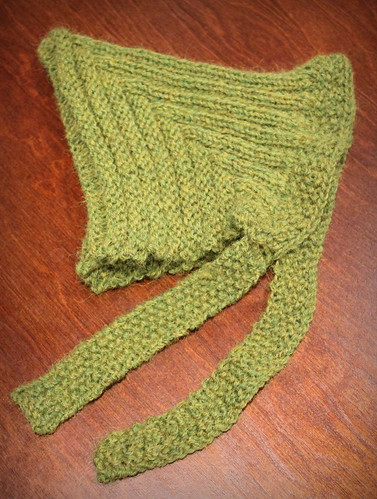 20131007. Pixie hat for the sprout.