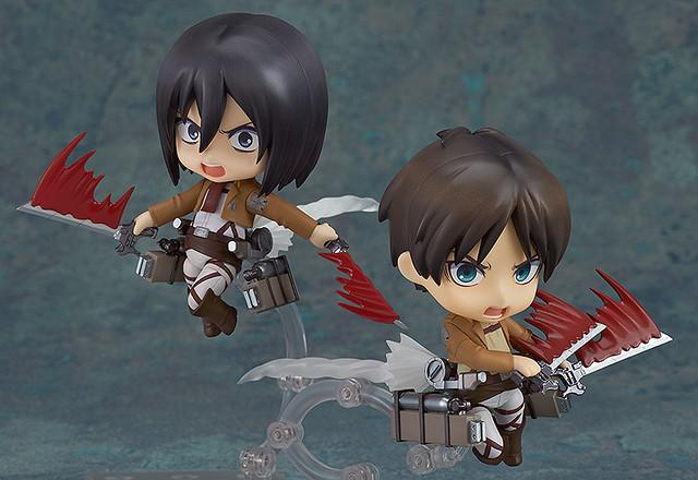 Mikasa and Eren
