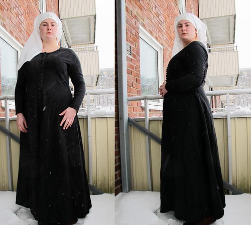 My gray Charles de Blois dress - 17