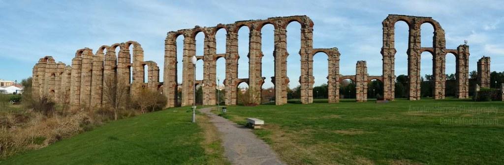 Panorámica Acueducto Romano de los Milagros - Mérida - Badajoz