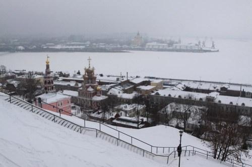 Looking west over the Oka River in Nizhny Novgorod