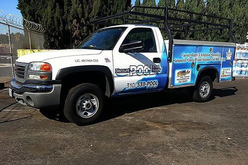 Discount Pool Utility Truck Wrap