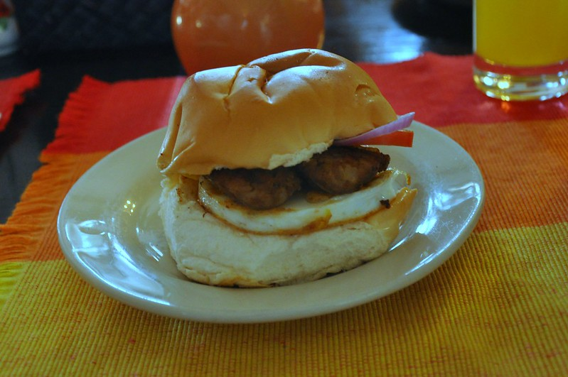 Ilocos Longaniza Burger with Egg