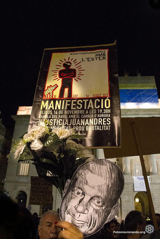 #JustíciaJuanAndrés amb l'Ester #14N. Foto: Fotomovimiento