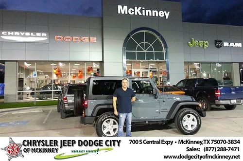 Thank you to Michael Norstrom on your new 2014 #Jeep #Wrangler from Lyon Alizna and everyone at Dodge City of McKinney! #LoveMyNewCar by Dodge City McKinney Texas