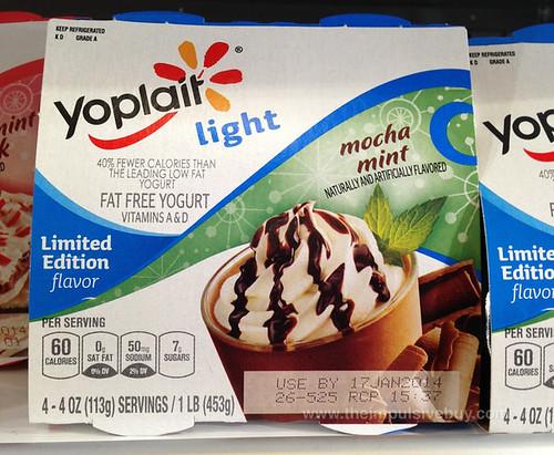Yoplait Light Limited Edition Mocha Mint Yogurt