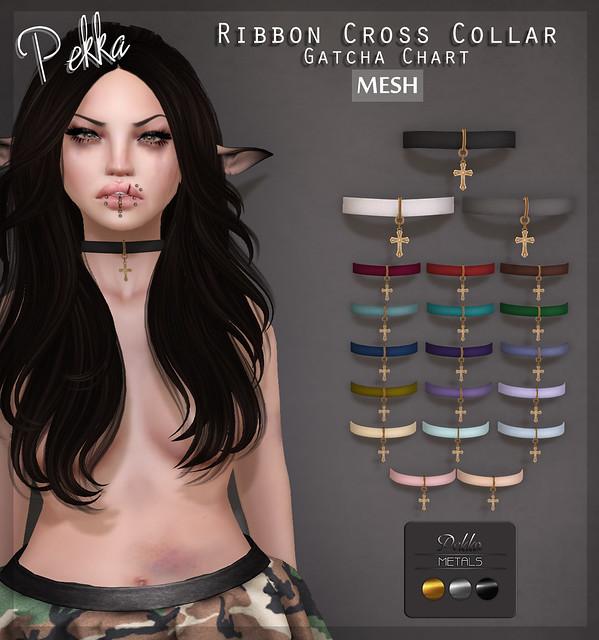 pekka ribbon cross collar