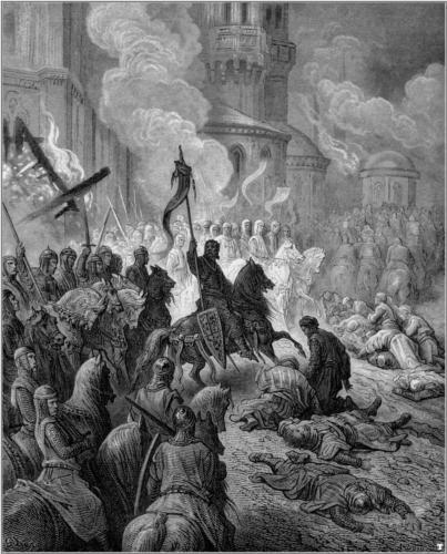 16. La entrada de los caballeros en la fortaleza. De la obra Las Cruzadas. Gustavo Doré (1832-1883)