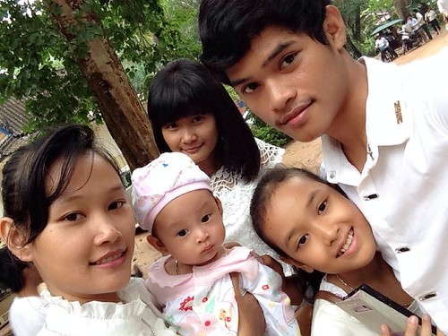 My Khmer family at the pagoda for Pchum Ben