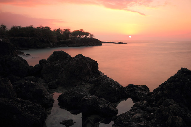 Hapuna Point Sunset