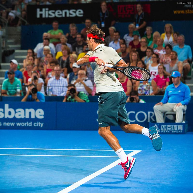 Roger Federer Brisbane International 2014