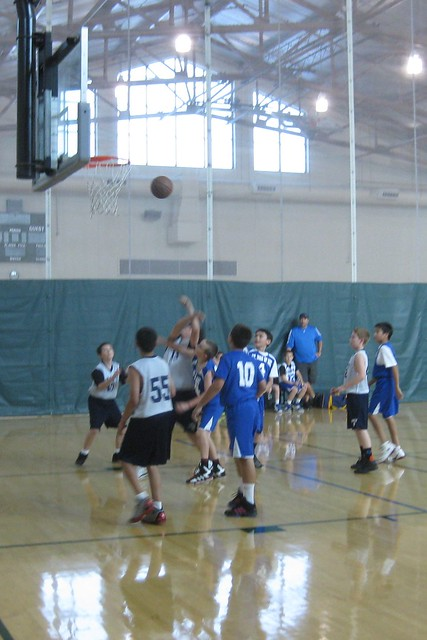 Tony shoots and is fouled.