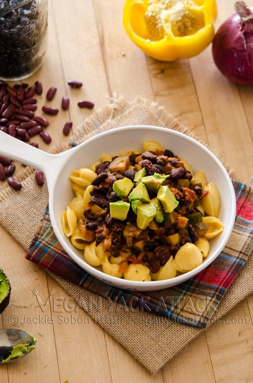 vegan Chili Fiesta Mac n Cheese