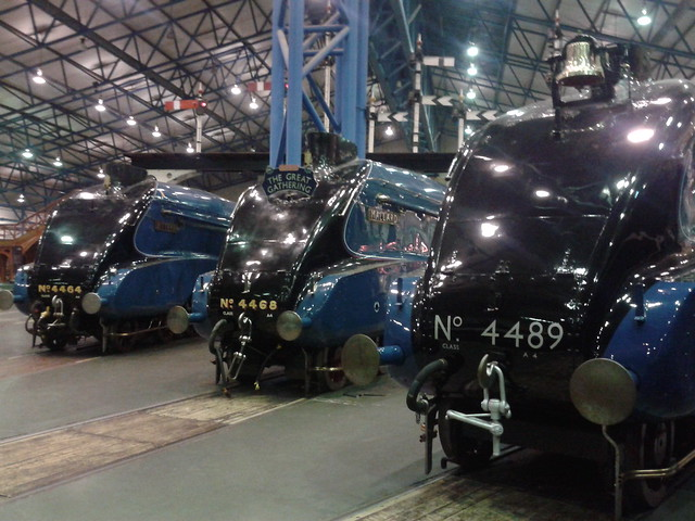 The Great Gathering Bittern Mallard and Dominion of Canada A4 Pacific Class Locomotives York Railway Museum