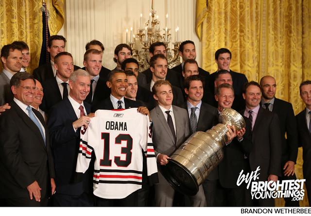 Blackhawks Visit the White House and President Obama | 11/04/13