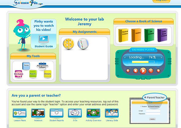 Science4Us.com, kindergarten science curriculum