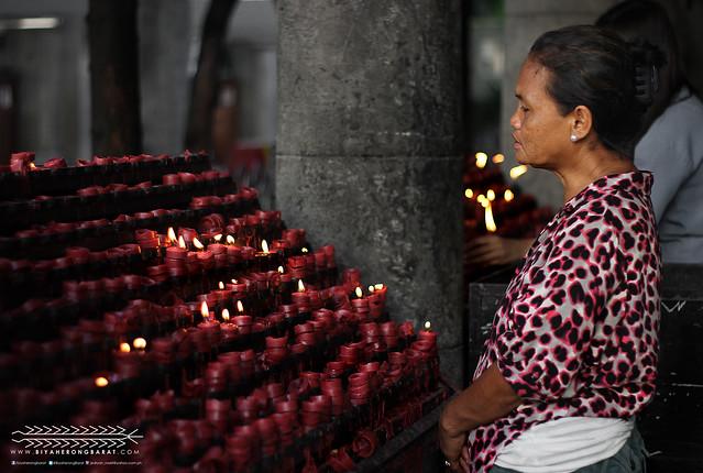 Basilica Minore del Sto Nino Cebu City candle offering