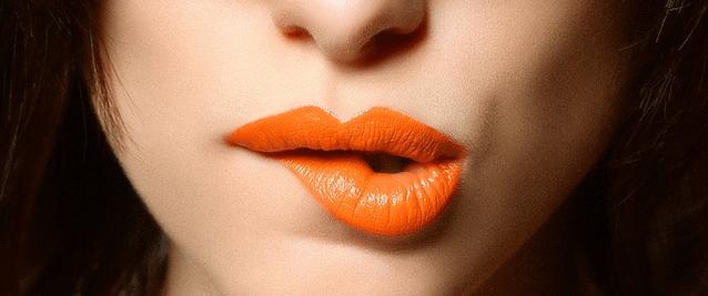 Pintalabios naranja