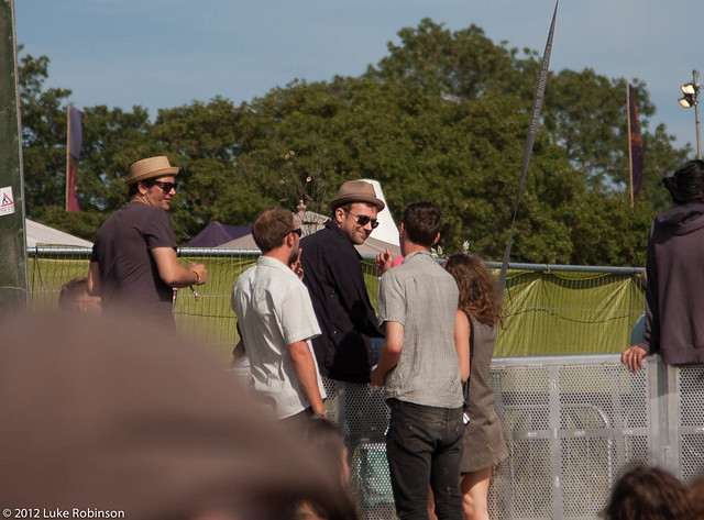 Damon Albarn gets noticed at the West Holts Stage