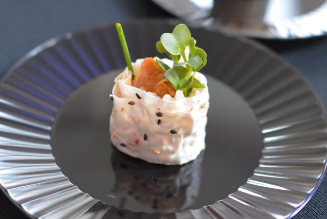 Hamasaku pork belly hand roll with gochujamg moromiso