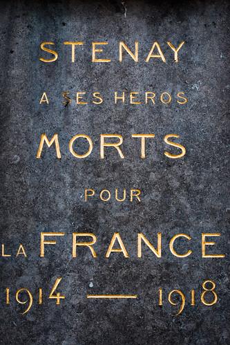 Stenay, France.  World War I WWI Monument,
