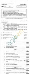 CBSE Board Exam 2013 Class XII Question Paper -Business Process Outsourcing Skills