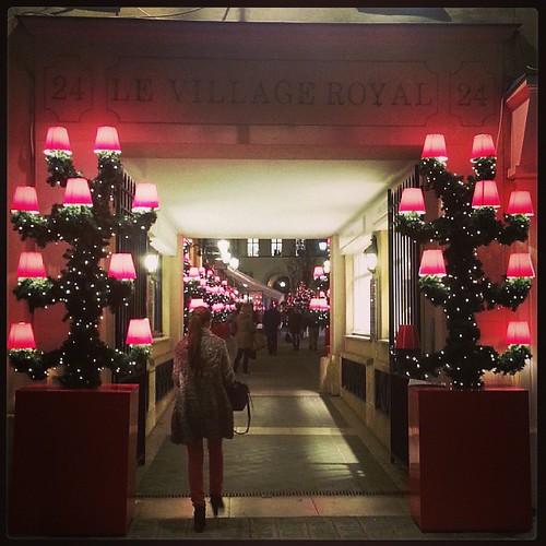 Christmas decorations up already at Le Village Royal #Paris. Kinda early non?